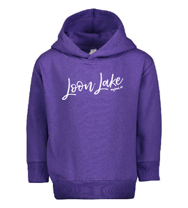 LL Loon Lake Words Only Toddler Pullover Fleece Hoodie