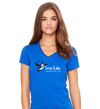 Load image into Gallery viewer, LL Loon Bird Women's Jersey Short Sleeve V-neck Tee