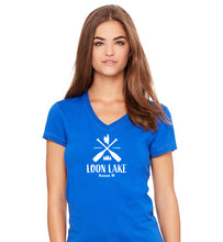 Load image into Gallery viewer, LL Two Oars Women's Jersey Short Sleeve V-neck Tee