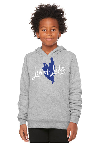 LL Lake Image Youth Sponge Fleece Pullover Hoodie