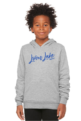 LL Loon Lake Words Only Youth Sponge Fleece Pullover Hoodie