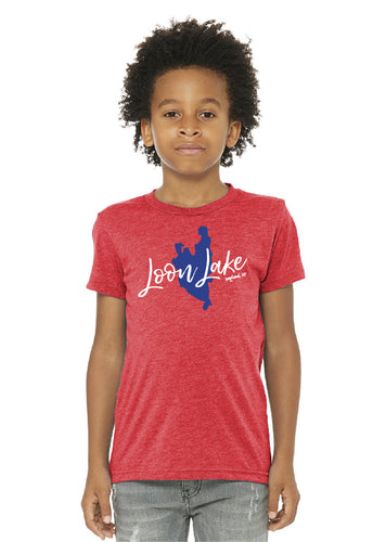 LL Lake Image Youth Triblend Short Sleeve Tee