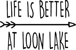 "LL ""Life is Better at Loon Lake"" Women's Jersey Short Sleeve V-neck Tee"