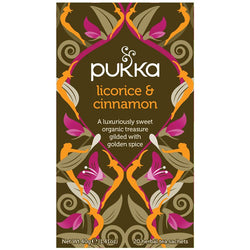 Teabags - Licorice & Cinnamon, Pukka 20 bags