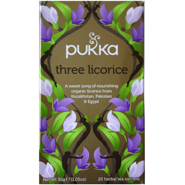 Teabags - Three Licorice, Pukka 20 bags