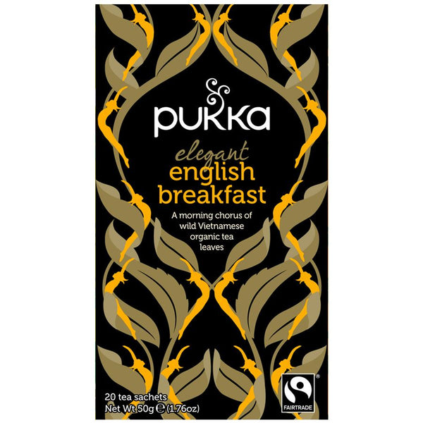 Teabags - English Breakfast, Pukka 20 bags