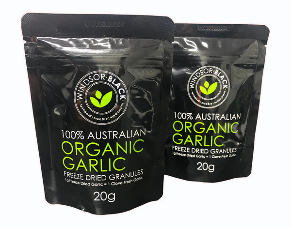 Garlic (Australian) Freeze Dried - Windsor Black 20g