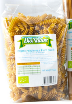 Wholemeal Fusilli - BioNature 500g