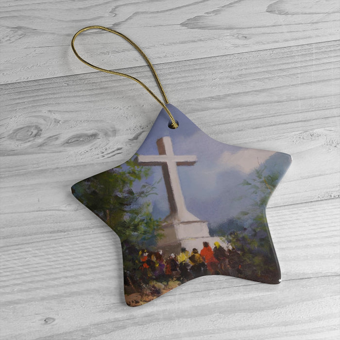 Cross Mountain Christmas Ornament
