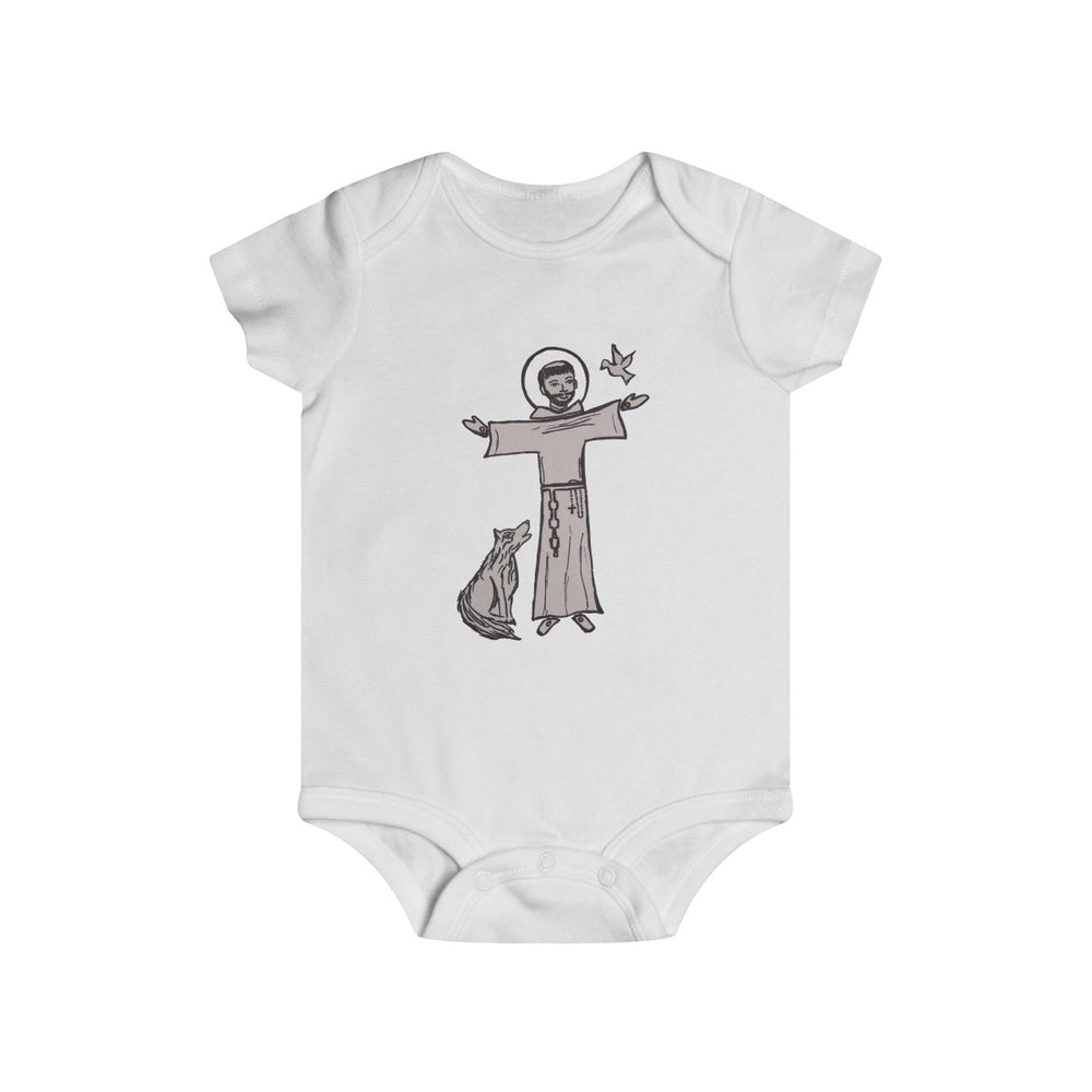 Infant St. Francis onesie