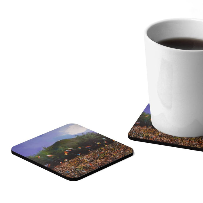 Cross Mountain Hardboard Coaster Set - 4pcs