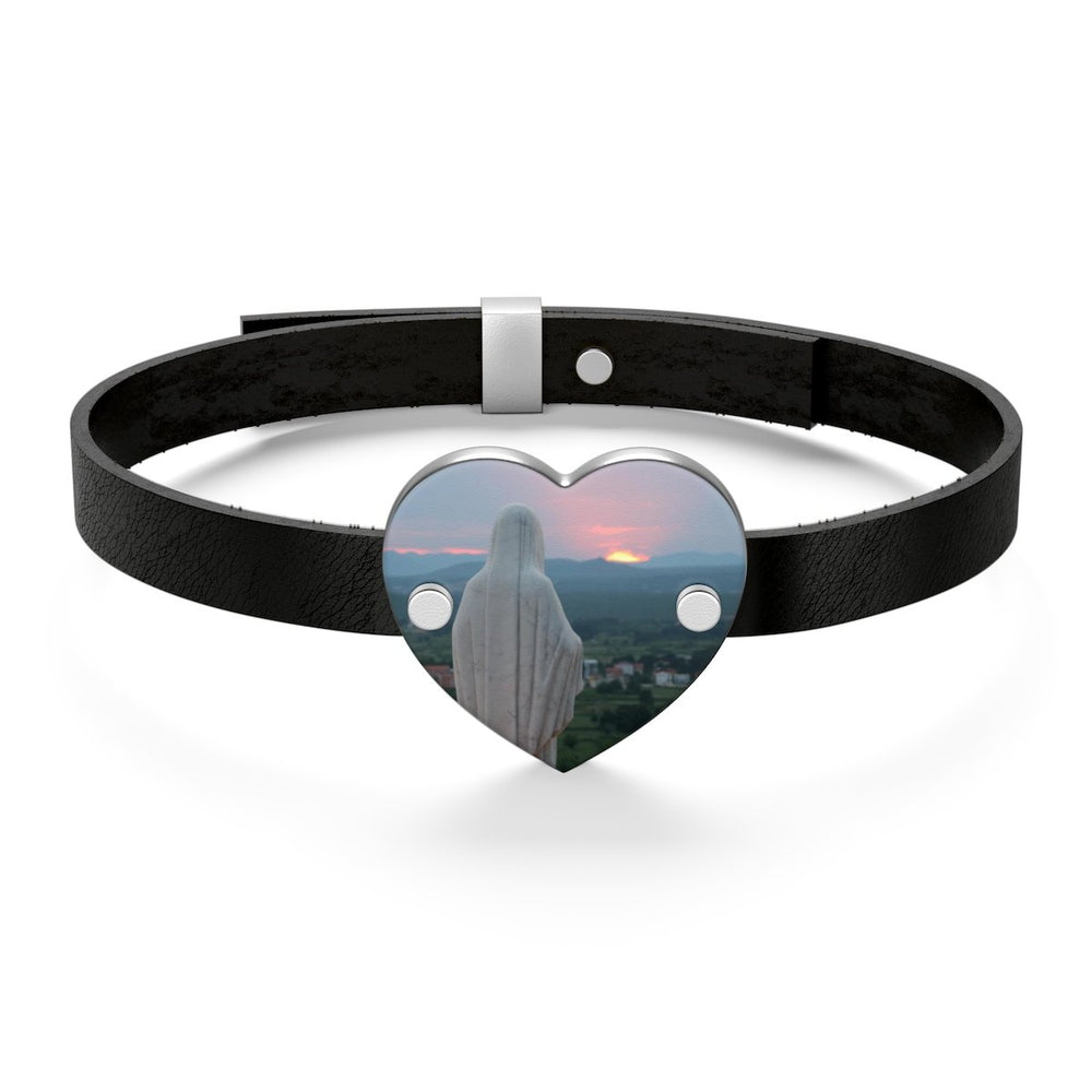 Our Mother at Sunset Leather Bracelet