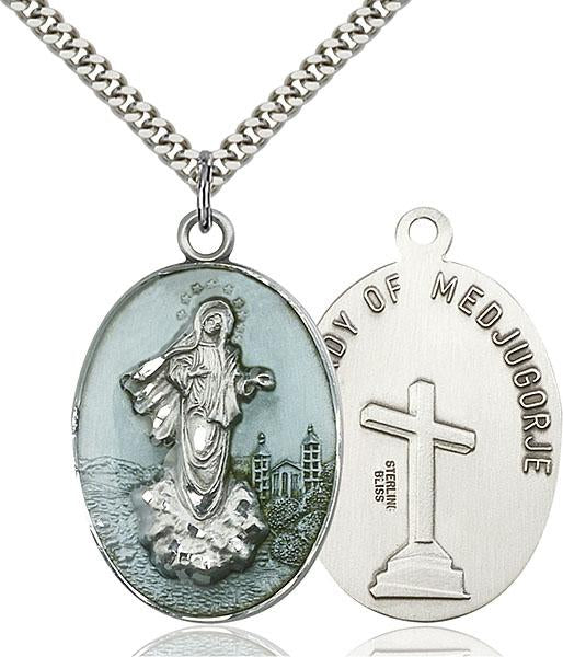 Sterling Silver Medjugorje Necklace Set