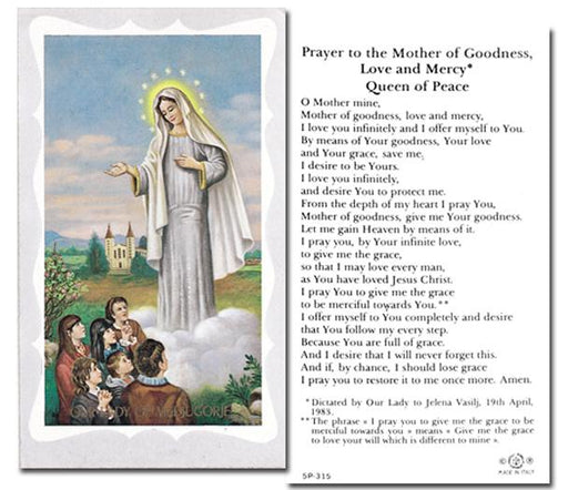 100-Pack - Our Lady Of Medjugorje Prayer Of Mother Of Goodness