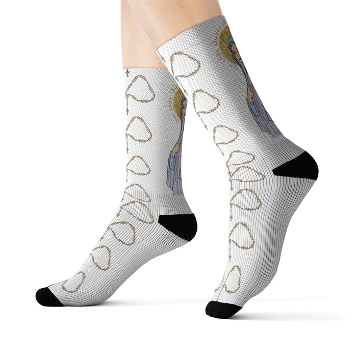 Our Lady Queen of Peace Socks