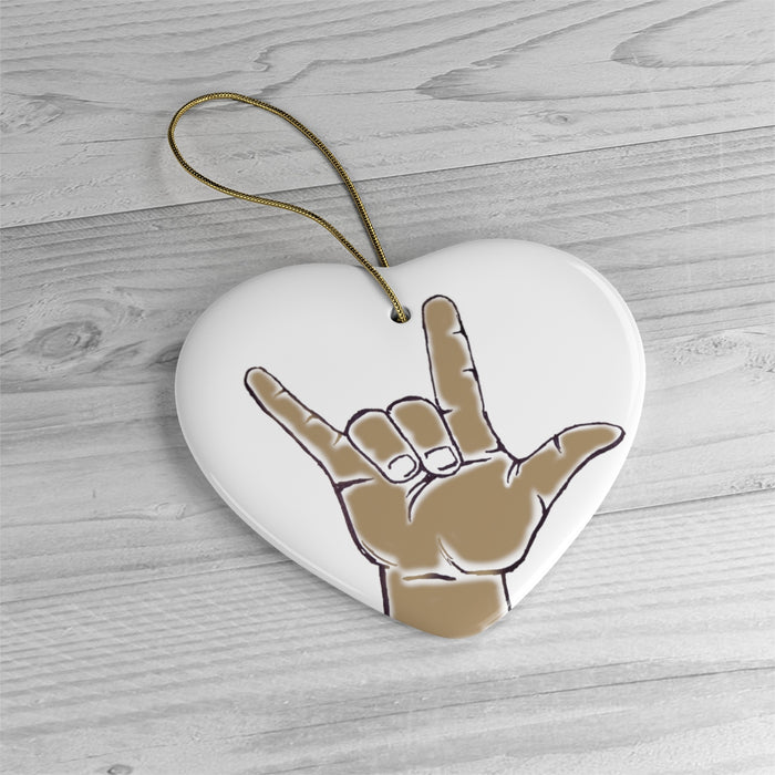 Sign Language Love Christmas Ornament