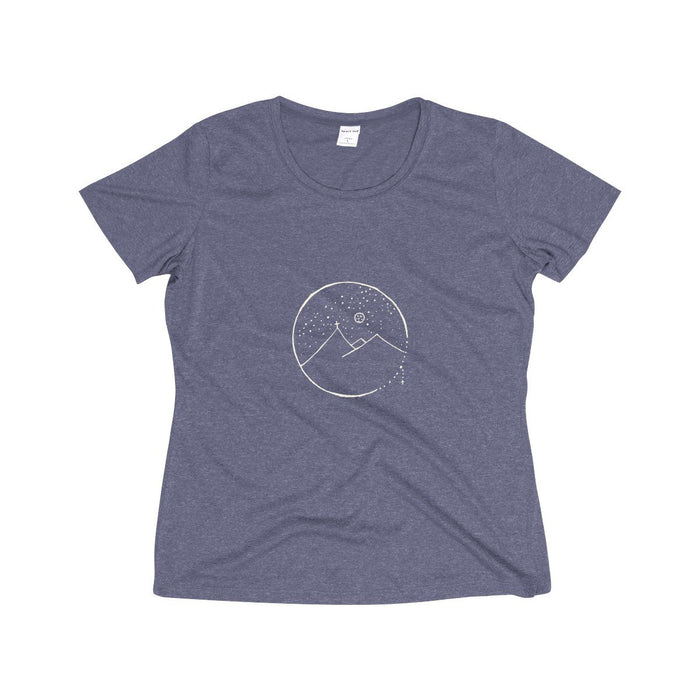Women's Tee with Cross Mountain Design