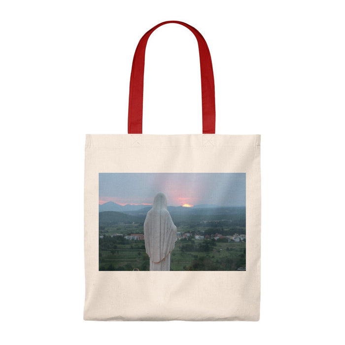 Our Mother at Sunset Tote Bag