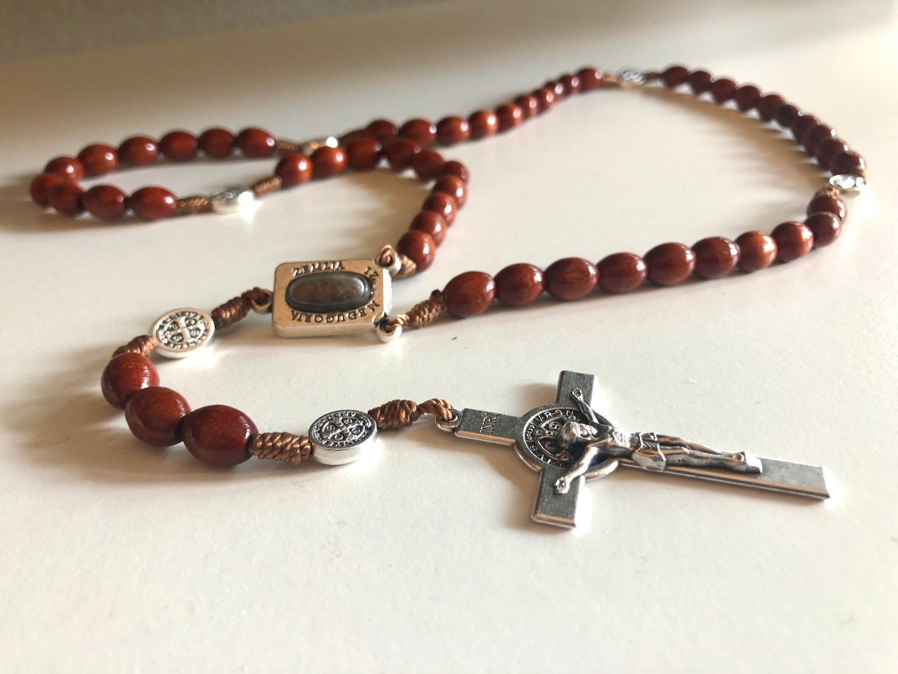 St. Benedict Rosary with dirt from Medjugorje