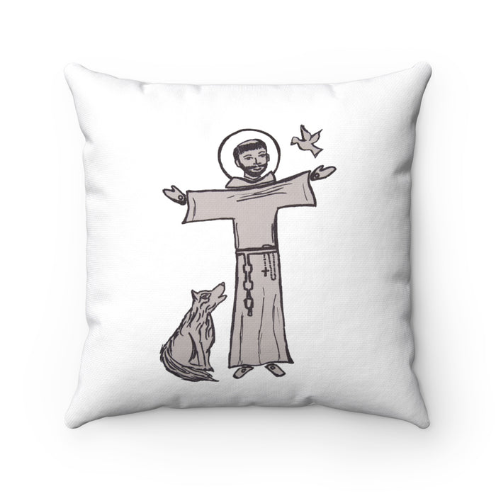 Saint Francis and Brother Wolf Pillow