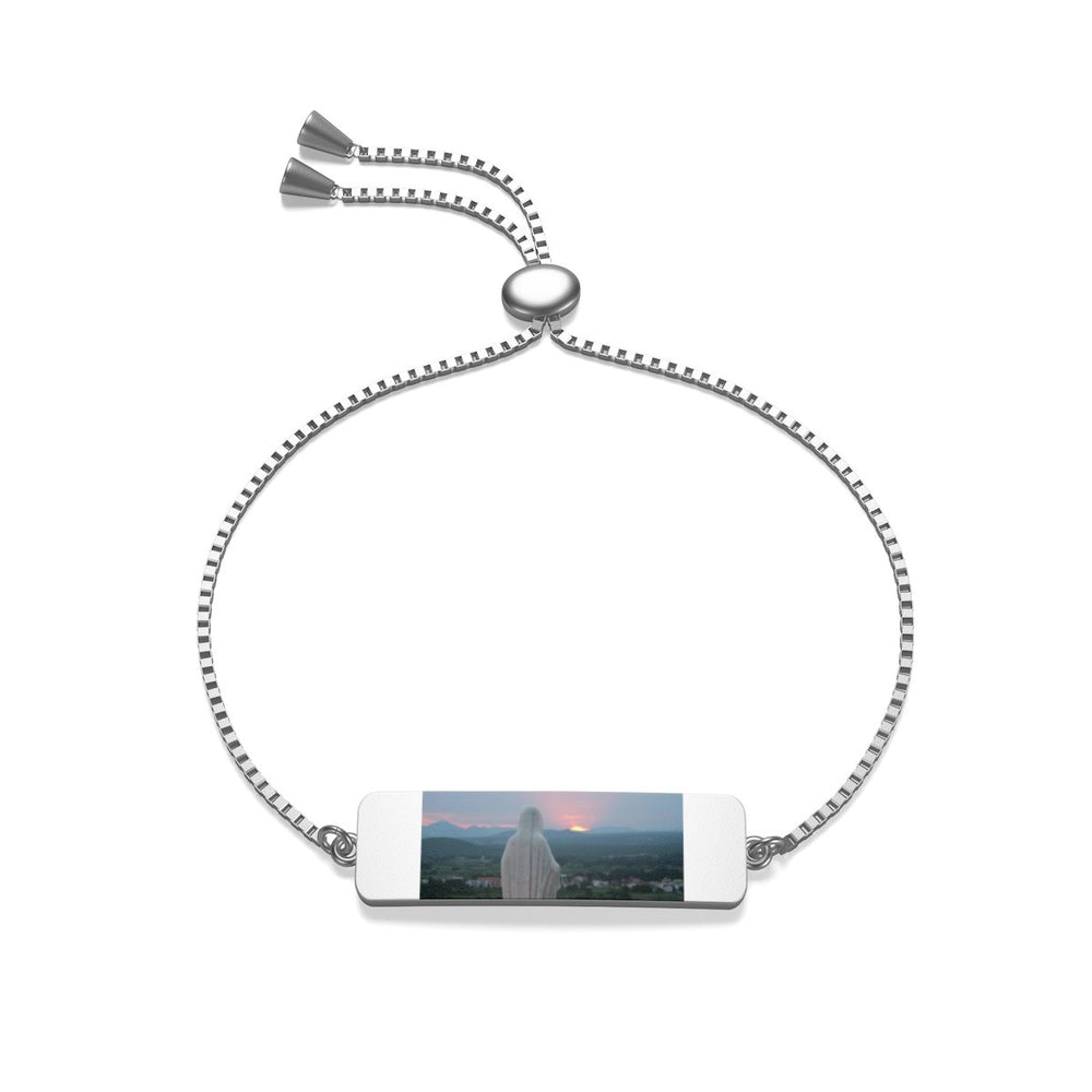 Our Mother at Sunset Box Chain Bracelet