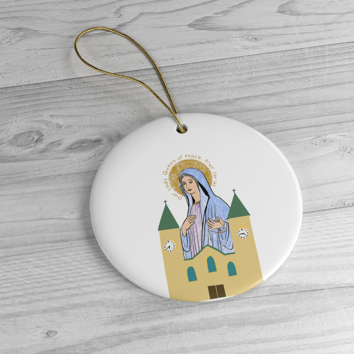 Queen of Peace and St. James Christmas Ornament
