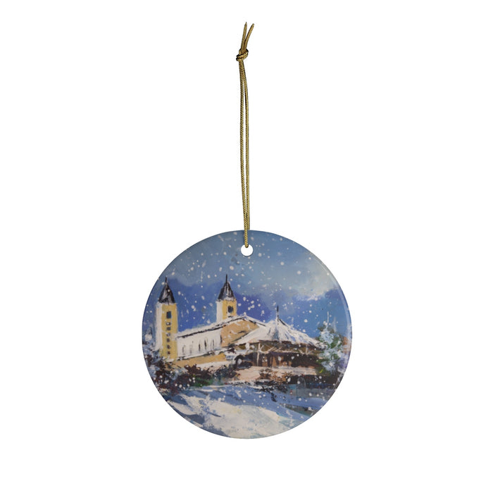 Snowy Christmas in Medjugorje Ornament