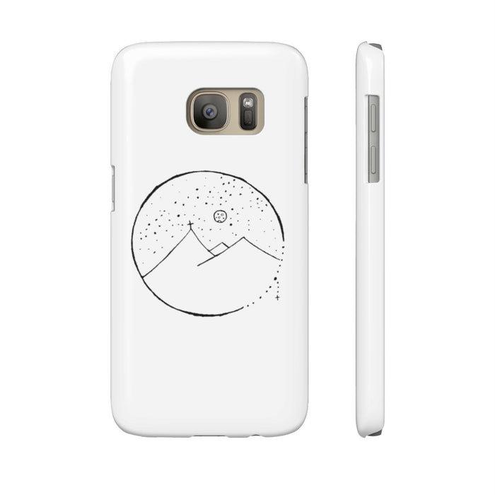 Slim Mate Phone Case with Cross Mountain Scene