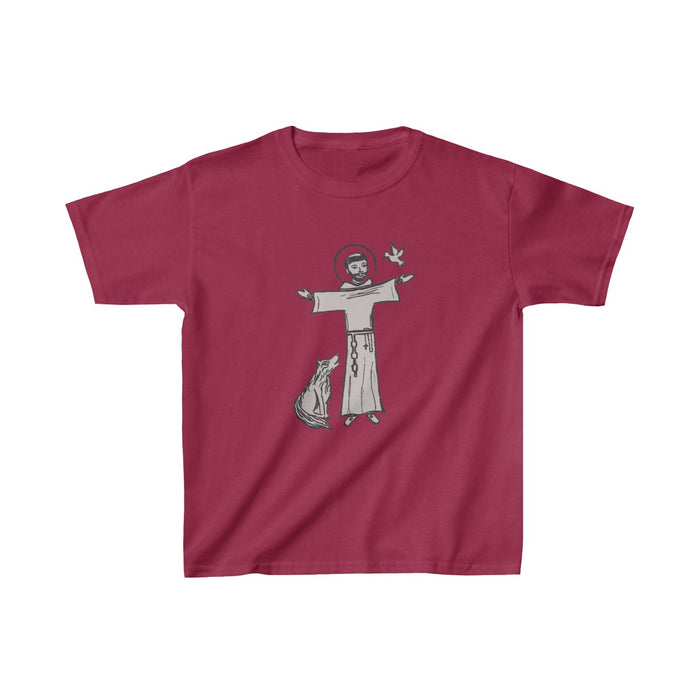 St. Francis with Brother Wolf Kids T-Shirt