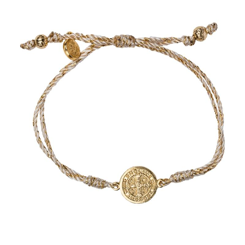 Serenity Blessing Bracelet Gold Braid - Gold Metal
