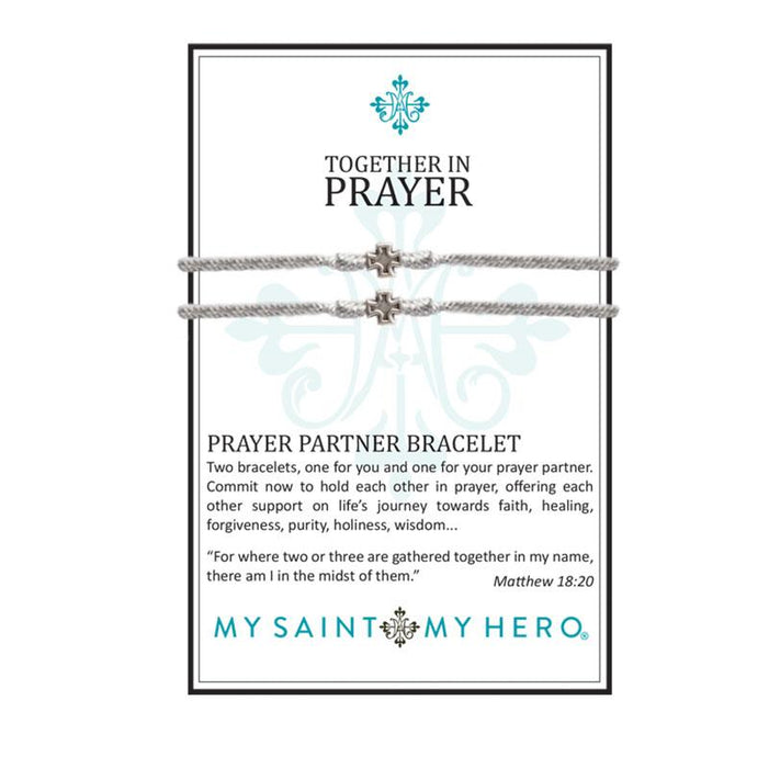 "Prayer Partner Bracelets Metallic SilverÃ"""" Silver Metal"