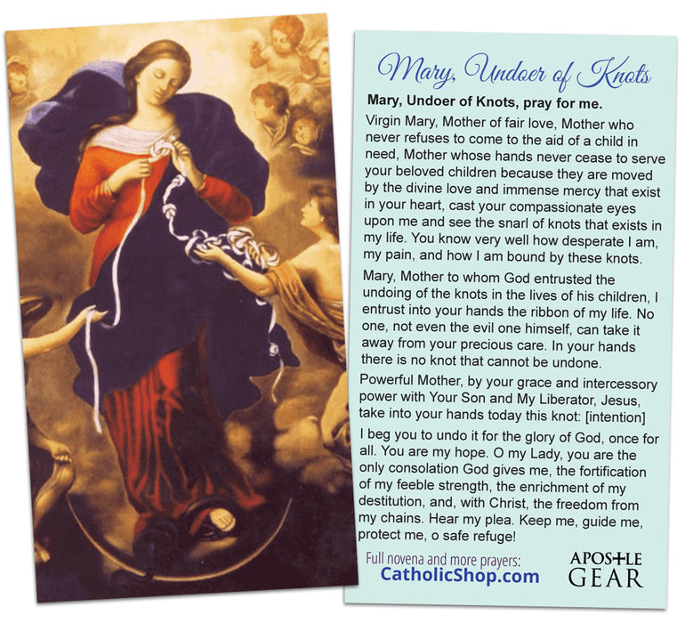 Mary, Untier of Knots Holy Card - 25 Pack