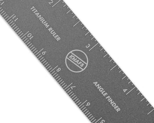 Titanium Ruler + Knife Angle Finder