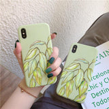Vintage Fresh Banana Leaf Soft Phone Case Back Cover - iPhone XS Max/XR/XS/X/8 Plus/8/7 Plus/7/6s Plus/6s/6 Plus/6 - halloladies