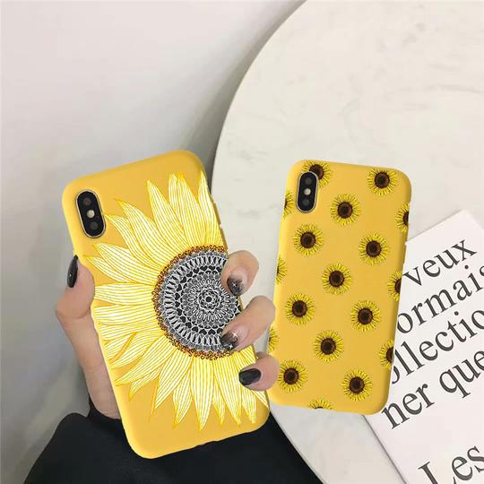 Cute Summer Daisy Sunflower Phone Case Back Cover for XS Max/XR/XS/X/8 Plus/8/7 Plus/7/6s Plus/6s/6 Plus/6 - halloladies