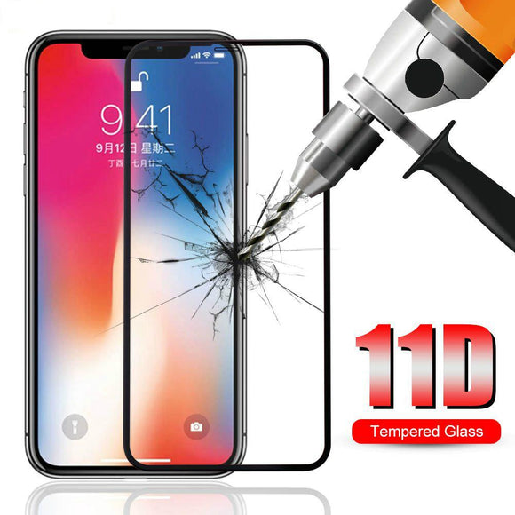 Tempered Glass 11D Full Protective Screen Protector for iPhone 12 Pro Max/12 Pro/12/12 Mini/SE/11 Pro Max/11 Pro/11/XS Max/XR/XS/X/8 Plus/8 - halloladies