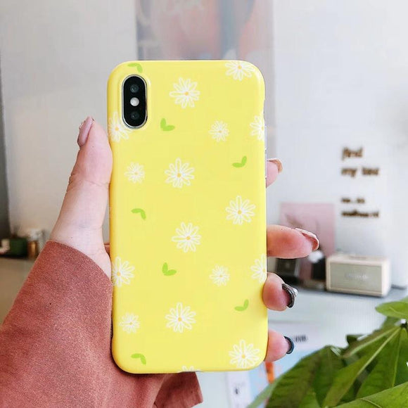 Lovely Daisy Flowers Yellow Soft Phone Case Back Cover - IPhone XS Max/XR/XS/X/8 Plus/8/7 Plus/7/6s Plus/6s/6 Plus/6 - halloladies