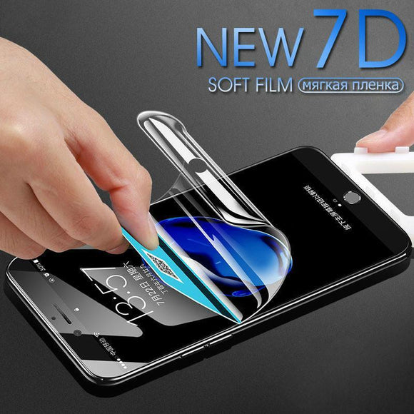 7D Soft Hydrogel Screen Protector - iPhone 12 Pro Max/12 Pro/12/12 Mini/SE/11 Pro Max/11 Pro/11/XS Max/XR/XS/X/8 Plus/8 - halloladies