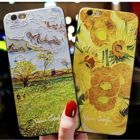 Art Oil Paint Phone Case Back Cover for iPhone 11/11 Pro/11 Pro Max/XS Max/XR/XS/X/8 Plus/8/7 Plus/7 - halloladies