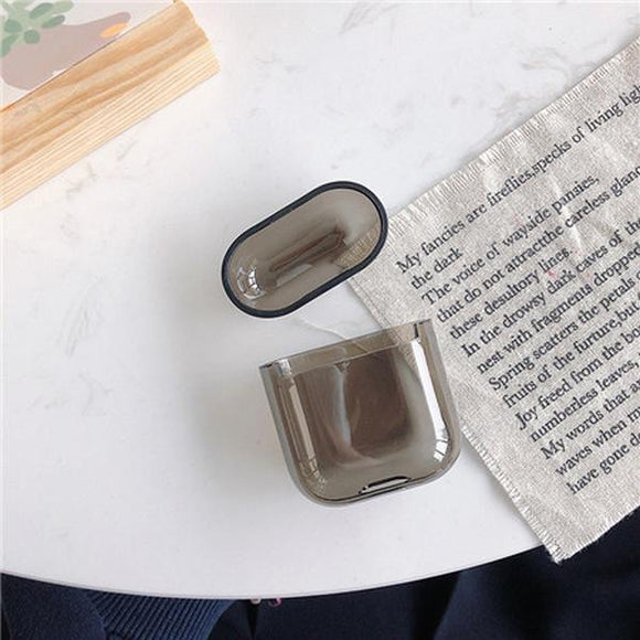 Airpods Transparent Wireless Bluetooth Earphone Cases - Solid Color - halloladies