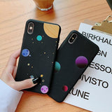 Cartoon Moon Star Space Planet Soft TPU Phone Case Back Cover for iPhone XS Max/XR/XS/X/8 Plus/8/7 Plus/7/6s Plus/6s/6 Plus/6 - halloladies