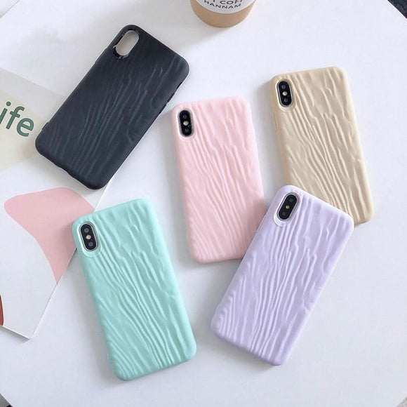 Simple Candy Color Quicksand Texture Surface Soft Phone Case Back Cover - iPhone 11/11 Pro/11 Pro Max/XS Max/XR/XS/X/8 Plus/8/7 Plus/7 - halloladies