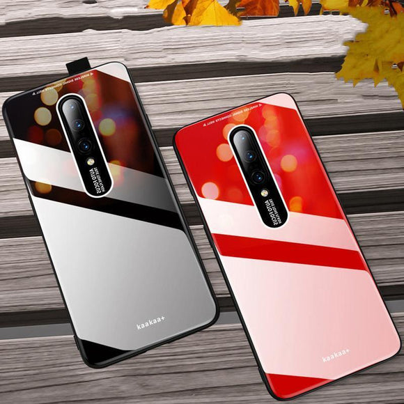 Hard Glossy Acrylic Silicone Frame Phone Case Back Cover for OnePlus 7 Pro/7/6T/6 - halloladies
