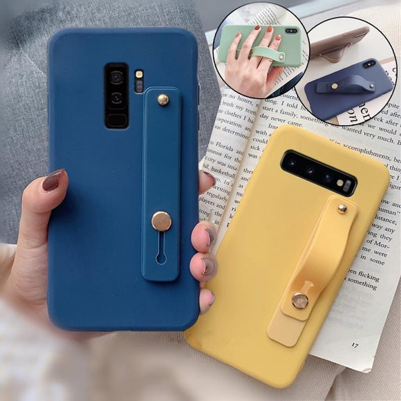 Candy Color Hand Band Silicone Phone Case Back Cover - Samsung Galaxy S10E/S10 Plus/S10/S9 Plus/S9/S8 Plus/S8/Note9/Note8 - halloladies