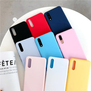 Cute Candy Colors Phone Case Back Cover - Huawei P30 Lite/P30 Pro/P30/P20 Lite/P20 Pro/P20/Mate 20 Pro/Mate 20x/Mate 20 - halloladies