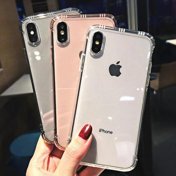 Luxury Transparent Phone Case Back Cover for iPhone 11 Pro Max/11 Pro/11/XS Max/XR/XS/X/8 Plus/8/7 Plus/7/6s Plus/6s/6 Plus/6 - halloladies
