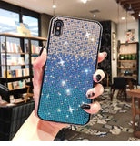 Luxury Shiny Crystal Gradient Phone Case Back Cover - iPhone 11 Pro Max/11 Pro/11/XS Max/XR/XS/X/8 Plus/8/7 Plus/7 - halloladies