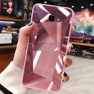 3D Mirror Diamond Glitter Phone Case Back Cover - Samsung Galaxy S20 Ultra/S20 Plus/S20/S10E/S10 Plus/S10/S9 Plus/S9/S8 Plus/S8, Samsung Note 9/Note 8 - halloladies