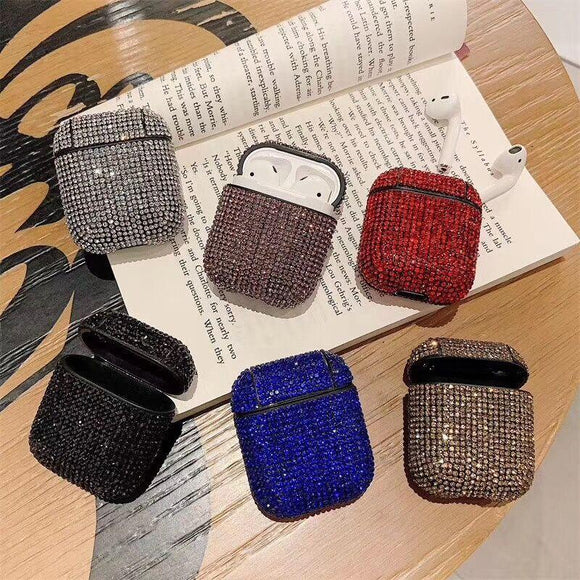Shining Full of Diamond Airpods Case Wireless Bluetooth Earphone Cases for Airpods - halloladies