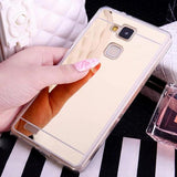 Luxury Mirror Silicone Phone Case Back Cover for Huawei P20 Pro/P20 Lite/P 20/P10 Lite/P10/Mate 10 Pro/Mate 10 Lite - halloladies